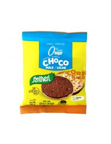 TORTITAS MAÍZ BAÑADAS CHOCO LECHE 0% AZUCARES