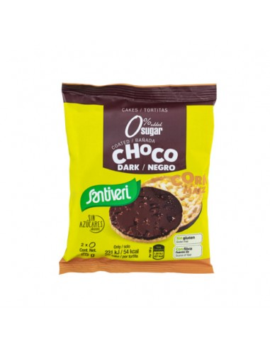 TORTITAS MAÍZ BAÑADAS CHOCO NEGRO 0% AZUCARES