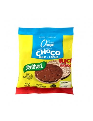 TORTITAS ARROZ BAÑADAS CHOCO LECHE 0% AZÚCARES