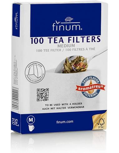 Finum - Filtros para té (Papel,100 Unidades, Talla M)